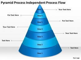 Business Process Workflow Diagram Pyramid Independent Powerpoint Slides