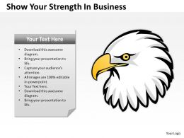 Business Process Workflow Diagram Show Your Strength Powerpoint Templates 0515