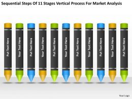 Business Process Workflow Diagram Stages Vertical For Market Analysis Powerpoint Templates