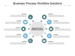 Business Process Workflow Solutions Ppt Powerpoint Presentation Icon Cpb