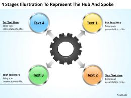 business_processes_4_stages_illustration_to_represent_the_hub_and_spoke_powerpoint_templates_Slide01