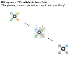 Business Processes 4 Stages Illustration To Represent The Hub And Spoke Powerpoint Templates