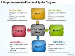 business_processes_4_stages_interrelated_hub_and_spoke_diagram_powerpoint_templates_Slide01