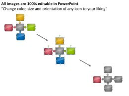 Business Processes 4 Stages Interrelated Hub And Spoke Diagram Powerpoint Templates