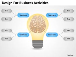 Business Processes Design For Activities Powerpoint Templates