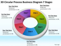 Business Processes Diagram 7 Stages Powerpoint Templates PPT Backgrounds For Slides
