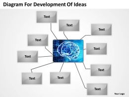Business Processes Diagram For Development Of Ideas Powerpoint Templates