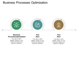 Business Processes Optimization Ppt Powerpoint Presentation Ideas Images Cpb