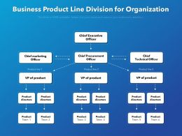 Business Product Line Division For Organization
