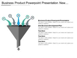 Business Product Powerpoint Presentation New Business Development Plan Cpb