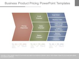 Business Product Pricing Powerpoint Templates
