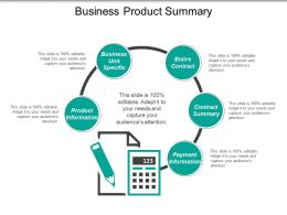 Business Product Summary