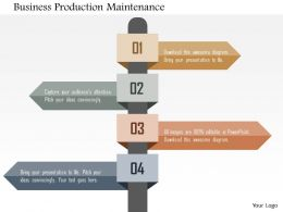 Business Production Maintenance Flat Powerpoint Design