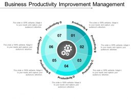 Business Productivity Improvement Management Example Of Ppt