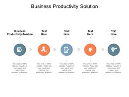Business Productivity Solution Ppt Powerpoint Presentation Outline Format Cpb