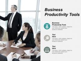 Business Productivity Tools Ppt Powerpoint Presentation Pictures Slideshow Cpb