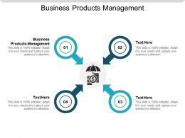 Business Products Management Ppt Powerpoint Presentation Slides Graphics Cpb
