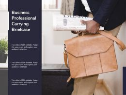 Business Professional Carrying Briefcase