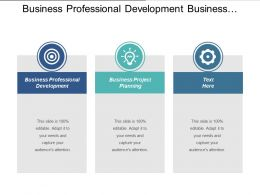 Business Professional Development Business Project Planning Cpb
