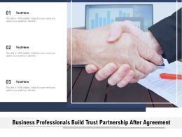 Business Professionals Build Trust Partnership After Agreement