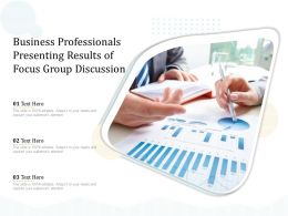 Business Professionals Presenting Results Of Focus Group Discussion