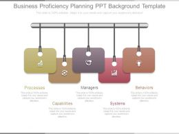 Business Proficiency Planning Ppt Background Template