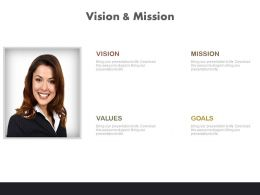 Business Profile For Vision And Mission Powerpoint Slides