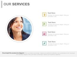 Business Profile With Business Process Icons Powerpoint Slides