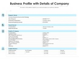 Business Profile With Details Of Company