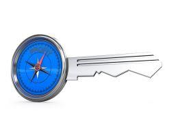 Business Profit Key Design Stock Photo