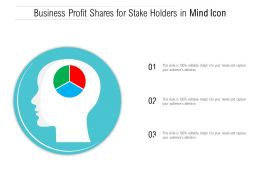 Business Profit Shares For Stake Holders In Mind Icon