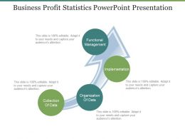 Business Profit Statistics Powerpoint Presentation