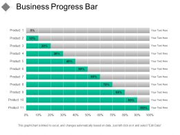 Business Progress Bar Sample Of Ppt