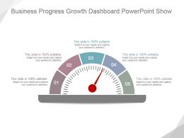 Business Progress Growth Dashboard Powerpoint Show