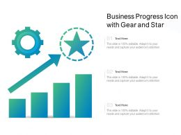 Business Progress Icon With Gear And Star