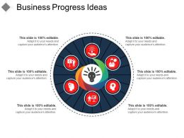 Business Progress Ideas Sample Of Ppt Presentation