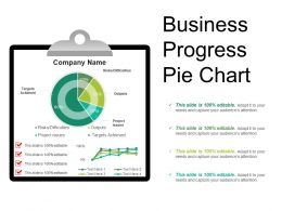 Business Progress Pie Chart Example Ppt Presentation