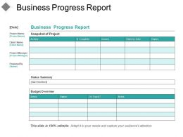 Business Progress Report Good Ppt Example