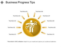 Business Progress Tips Powerpoint Templates