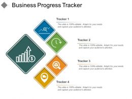 Business Progress Tracker Powerpoint Graphics