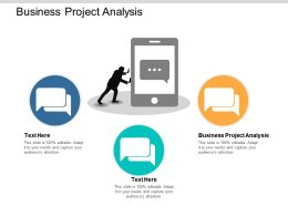 Business Project Analysis Ppt Powerpoint Presentation File Backgrounds Cpb