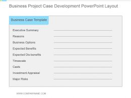 Business Project Case Development Powerpoint Layout