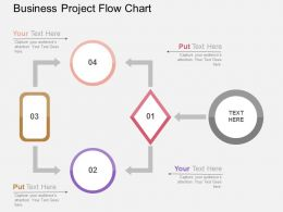 Business Project Flow Chart Flat Powerpoint Design
