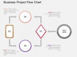 Business Project Flow Chart Flat Powerpoint Design