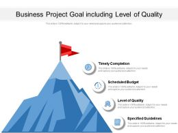 Business Project Goal Including Level Of Quality