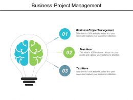 Business Project Management Ppt Powerpoint Presentation Gallery Ideas Cpb