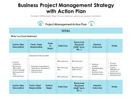 Business Project Management Strategy With Action Plan