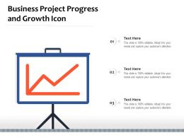 Business Project Progress And Growth Icon