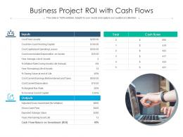 Business Project ROI With Cash Flows