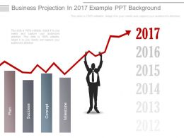 Business Projection In 2017 Example Ppt Background